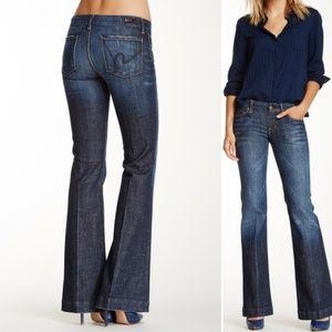 COH Faye Flared Leg Jeans Dark Wash Wide Denim  25